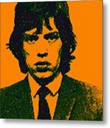 Mugshot Mick Jagger P0 Metal Print