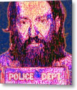 Mugshot Willie Nelson Painterly 20130328 Metal Print by Wingsdomain Art and Photography