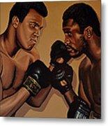 Muhammad Ali And Joe Frazier Metal Print