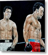 Muhammad Ali Vs George Foreman Metal Print by Jim Fitzpatrick
