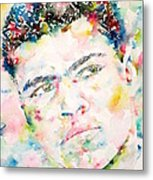 Muhammad Ali - Watercolor Portrait.1 Metal Print