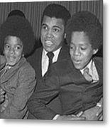 Muhammad Ali With Young Michael Jackson Metal Print