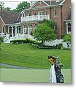 D12w-289 Golf Bag At Muirfield Village Metal Print