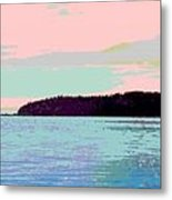 Mukilteo Clinton Ferry Panel 2 Of 3 Metal Print