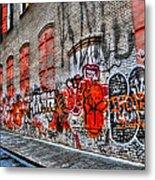 Mulberry Street Graffiti Metal Print