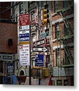 Mulberry Street New York City Metal Print
