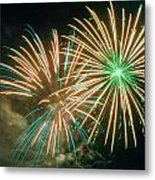 4th Of July Fireworks 2 Metal Print by Howard Tenke