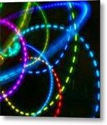Multi-color Light Orbits Metal Print