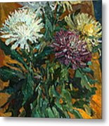 Multi Colored Chrysanthemums Metal Print
