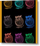 Multicolor Owl Metal Print