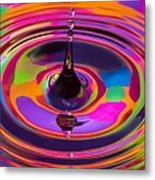 Multicolor Water Droplets 3 Metal Print by Imani  Morales