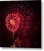 Multicolored Fireworks Metal Print