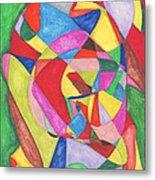 Multicolored Maze Metal Print by Ellen Howell
