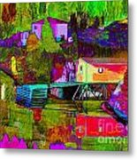 Multicolored Reflections Metal Print
