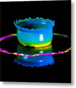 Multicoloured Bowl Metal Print