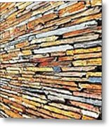 Multicoloured Slate Wall Metal Print