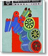 Multilith 1250 Ink Rollers Cylinders Metal Print