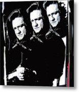 Multiple Johnny Cash Sitting Old Tucson Arizona 1971-2008 Metal Print