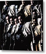 Multiple Johnny Cash's In Trench Coat 1 Collage Old Tucson Arizona 1971-2008 Metal Print