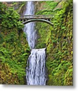 Multnomah Falls I Metal Print