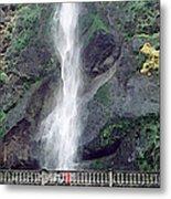 Multonomah Falls Oregon Metal Print