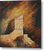 Mummy Cave Ruins 2 Metal Print