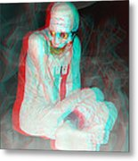 Mummy Dearest - Use Red-cyan Filtered 3d Glasses Metal Print