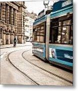 Munich City Traffic Metal Print