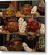 Munich Market With Pickles And Olives Metal Print