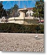Municipal Square Fountain Metal Print