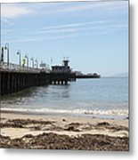 Municipal Wharf At The Santa Cruz Beach Boardwalk California 5d23766 Metal Print by Wingsdomain Art and Photography