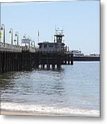 Municipal Wharf At The Santa Cruz Beach Boardwalk California 5d23767 Metal Print