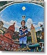 Mural Of Stephen F Austin Off Guadalupe Metal Print