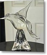 Murano Crystal Bird Metal Print