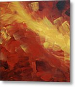 Muse In The Fire 1 Metal Print