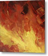 Muse In The Fire 2 Metal Print