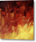Muse In The Fire 3 Metal Print
