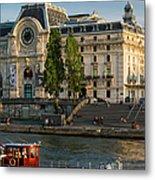 Musee D'orsay Along River Seine Metal Print