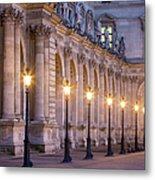 Musee Du Louvre Lamps Metal Print