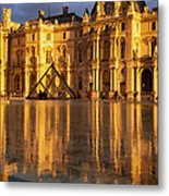 Musee Du Louvre Sunset Metal Print