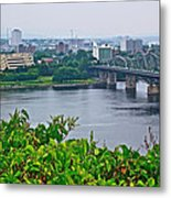 Museum Of Civilization Across The Ottawa River In Gatineau-qc Metal Print