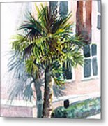 Museum Palm Metal Print