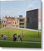 Museumplein Lawn In Amsterdam Metal Print