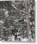 Musher In The Forest Metal Print