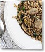 Mushroom Barley Meal Metal Print