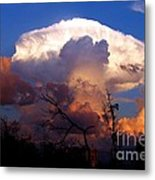 Mushroom Cloud At Sunset Metal Print by Doris Wood