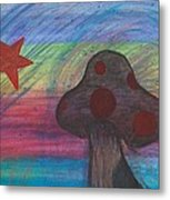 Mushroom And Star Metal Print
