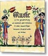 Music Fraktur Metal Print