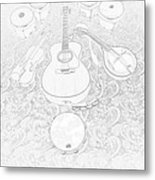 Music Frost Metal Print