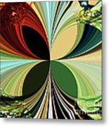 Music In Bird Of Tree Kaleidoscope Metal Print